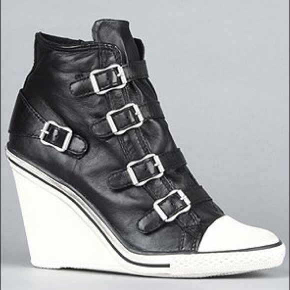 Ash Shoes   Thelma Wedge Sneakers Black